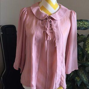 Way Sheer Pink Blouse